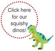 squish dinosaurs sensory autism toy
