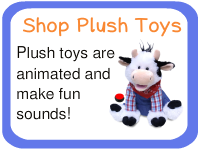 Plush and animated switch adapted toys for kids with special needs.