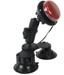 Suction mount easily positions a variety of switches or objects.