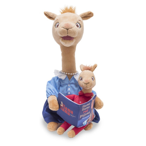 Switch adapted Mama Llama toy recites entire Mama Llama Red Pajama story.