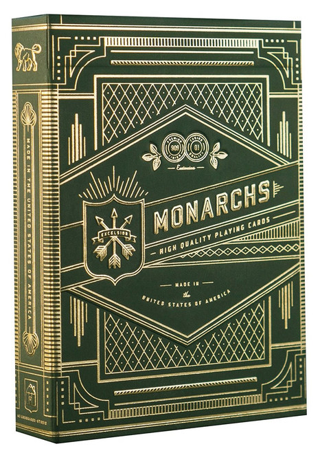 Monarchs Poker Deck, Green