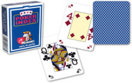 Poker, 4-Corner Mini-Index, 100% Plastic, Blue Back