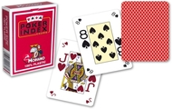 Poker, 4-Corner Mini-Index, 100% Plastic, Red Back