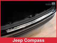 2017 + Jeep Compass - Stainless Steel Rear Bumper Protector