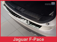 2016 2017 2018 Jaguar F-Pace - Polished Stainless Steel Rear Bumper Protector
