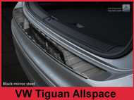 2016-2018 VW Tiguan II and ALLSPACE - Polished Black Stainless Steel Rear Bumper Protector
