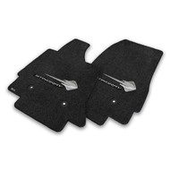 C7 Corvette Stingray Floor Mats - Lloyds Mats with Stingray Logo and Stingray Script: Ultimat - Jet Black