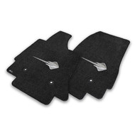 C7 Corvette Stingray Floor Mats - Lloyds Mats with C7 Stingray Logo: Jet Black