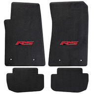Camaro 2010-2015 4 Piece Floor Mats - Lloyds Mats with RS Logo Script: Jet Black