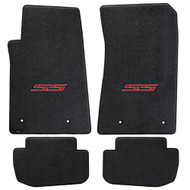 Camaro 2010-2015 4 Piece Floor Mats - Ultimat Lloyds Mats with Camaro Logo Script: Ultimat Jet Black