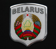 Belarus Resin and Aluminium Country Badge