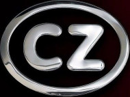 Czech Aluminum CZ Country Auto Decal Badge