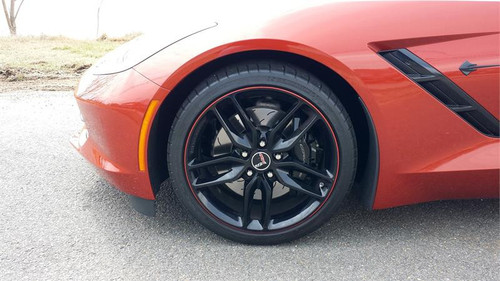 Metallic Orange Rimstripes by Tapeworks - (C7 Daytona Sunrise Orange Metallic)