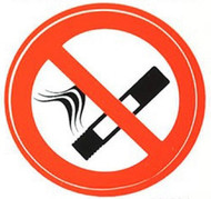 No Smoking Decal Sticker - Two Sided View