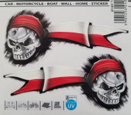 Poland Polish Pirate with Flag - Decal Sticker (Set of 2)
