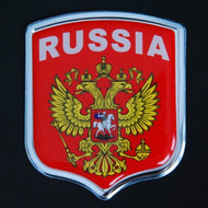 Russia Resin and Aluminium Country Badge
