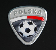 Poland Polska Soccer Badge