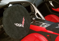 Corvette C7 Steering Wheel Cover by Seat Armour