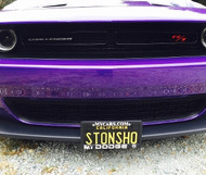 2015-2018 Dodge Challenger w/o adaptive cruise - Quick Release Front License Plate Bracket