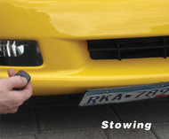 Universal  Powered Retractable Show N Go Front License Plate Bracket