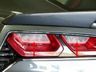 2014-2017 C7 Corvette Stingray  Z06 Grand Sport - 4pc Polished Back-Up Light Grilles - Matrix Series Alumi-Steel