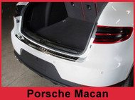 2014 - 2017 Porsche Macan - Graphite Brushed Stainless Steel Rear Bumper Protector Guard