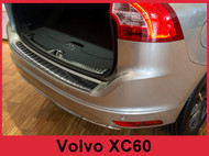 2014-2017 XC60 - Graphite Stainless Steel Rear Bumper Protector Guard