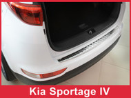 2016-2017 Kia Sportage Stainless Steel Rear Bumper Protector Guard