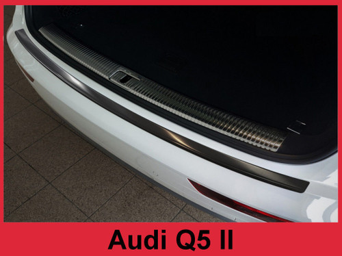 2018 + Audi Q5 II - Graphite Stainless Steel Rear Bumper Protector Guard