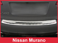 2009-2014 Nissan Murano - Brushed Silver Stainless Steel Rear Bumper Protector Guard