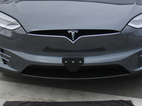 2016-2018 Tesla Model X - Quick Release Front License Plate Bracket STO N SHO & 2016-2018 Tesla Model X - Quick Release Front License Plate Bracket ...