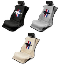 Mustang Seat Towel with Pony with Tri-Bar Logo by Seat Armour