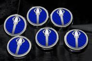 Corvette C7 Stingray Z06  & Grand Sport  - Fluid Cap Cover 6Pc Set With Stingray Emblem by ACC