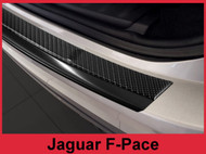 2017 - 2018 Jaguar F-Pace - Carbon Fiber & Black Stainless Steel Rear Bumper Protector