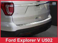 2011 - 2015 Ford Explorer Stainless Steel Rear Bumper Protector Guard