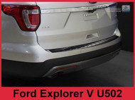 2011-2015 Ford Explorer - Graphite Stainless Steel Rear Bumper Protector