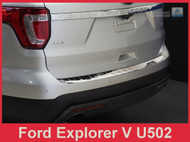 2011-2015 Ford Explorer - Polished Stainless Steel Rear Bumper Protector