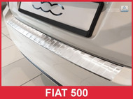 2016-2017 Fiat 500 - Stainless Steel Rear Bumper Protector