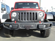 2012-2018 Jeep Wrangler JK with Metal Bumper - Quick Release Front License Plate Bracket SNS142