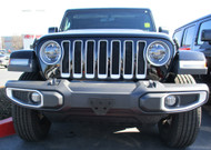 2018 Jeep Wrangler Sahara and Rubicon with Plastic Bumper - Quick Release Front License Plate Bracket
