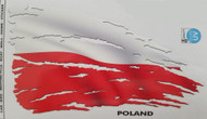 Poland Flag Decal - Tattered and Distressed Look