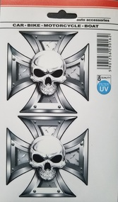 Iron Cross and Skull Decal Sticker