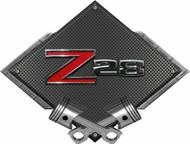 Black Diamond Cross Pistons Z28 Metal Sign Wall Hanging Art - 25x19 (BLCAM4)