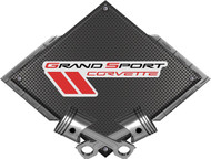 "Black Diamond Cross Pistons Grand Sport Metal Sign Wall Hanging Art - 25"" x 19"" (BLGRAND)"