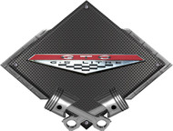 "Black Diamond Cross Pistons GTO Rocker Vintage Metal Sign Wall Hanging Art - 25"" x 19"" (BLGTOROCKER)"