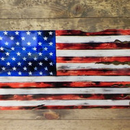 APPROXIMATELY 24″x15″. – FLAG1 AMERICA FLAG ALONE – MADE OF 14 GAUGE STEEL.