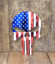 FLAG5 SKULL AMERICA FLAG – THE LOOK OF WOOD, THE DURABILITY OF STEEL – MADE OF 14 GAUGE STEEL.