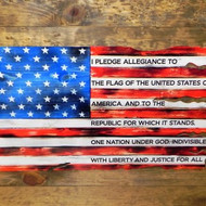 USA STEEL FLAG – PLEDGE 24x15 (flag1pledge24x15)