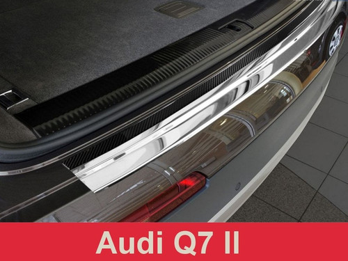 2016+ Audi Q7 MKII (4M) - Carbon Fiber and Stainless Steel Rear Bumper Protector Guard