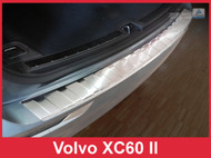 2018 Volvo XC60 - Brushed Stainless Steel Rear Bumper Protector Guard
